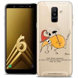 CaseInk Coque Gel Samsung Galaxy A6 PLUS 2018 (6 ) Extra Fine Les Shadoks® - Pour Être Heureux