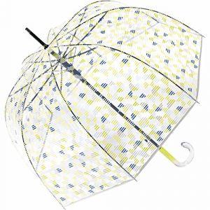 Esprit Parapluie cloche transparent géométriques citron vert