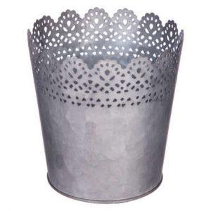 Conforama Pot dentelle en métal D.14 cm GARDEN