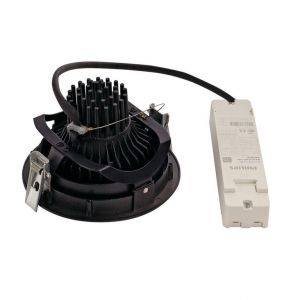 SLV Spot LED encastrable 114160 noir 35 W noir