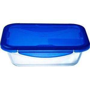 Pyrex Boîte de conservation rect 0.8L en verre Cook&Go + couvercle