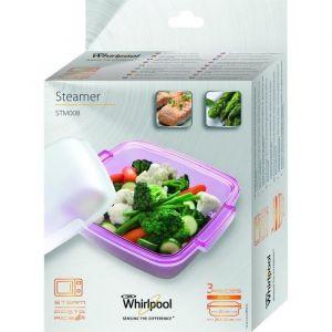 Whirlpool STM008 - Plat vapeur pour micro-ondes avec fonction vapeur ø 24 cm