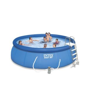 Intex Piscine autoportante ronde avec pompe Easy Set - Diam. 457 x H. 122 cm
