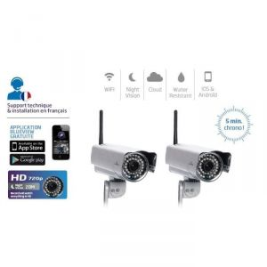 Bluestork CAM/OF/HD2X - Pack 2 caméras IP HD