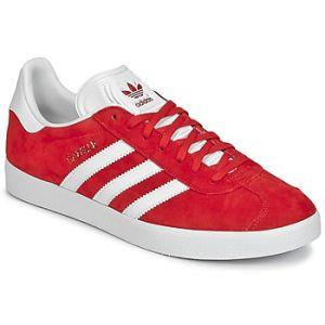 Adidas Gazelle, Baskets Basses Homme, Rouge (Scarlet/FTWR White/Gold Met.), 44 2/3 EU