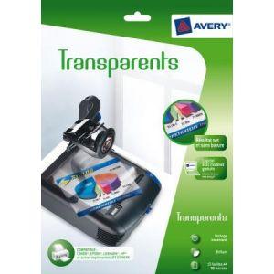 Avery-Zweckform 2503 - 15 transparents Jet d'encre 90 microns (15 feuilles / cdt)