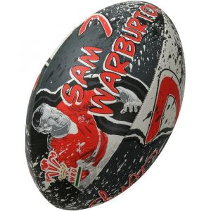 Gilbert Ballon de rugby SUPPORTER - Pays de Galles Sam Warburton - Taille 5
