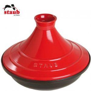 Staub Tajine en fonte émaillée avec dome céramique (28 cm)