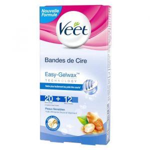 Veet Coffret Bandes de cire froide peaux sensibles