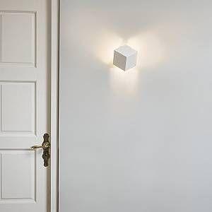 Qazqa Applique murale Cube blanc
