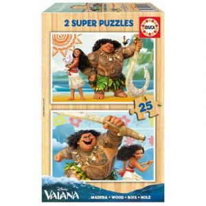 Educa 2 puzzles Vaiana (25 pièces)