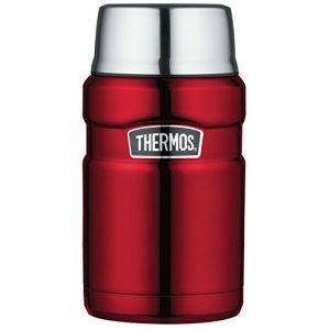 Thermos King en acier inoxydable alimentaire 710 ml, Acier inoxydable, Rouge cranberry, 710ml