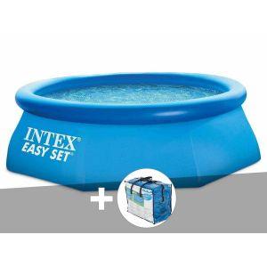 Intex Kit piscine autoportée Easy Set 2,44 x 0,76 m + bâche à bulles
