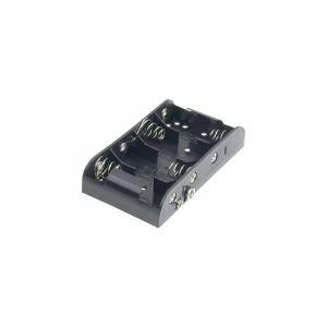 Goobay Support de pile 4x LR14 (C) 12464 raccord par bouton-poussoir (L x l x h) 111 x 54 x 25 mm