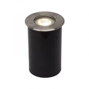 AEG Spot extérieur U-GROUND-Spot d'extérieur LED à encastrer Acier brossé Ø12.5cm Gris