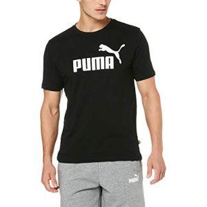 Puma Polo Ess logo tee black mc Noir - Taille EU L,EU XL