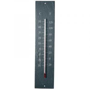 Esschert design Thermomètre Géant en schiste