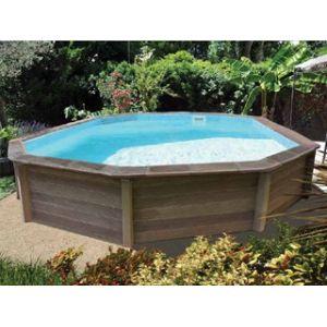 Naturalis Kit piscine béton 6,36 x 4,74 x 1,40m bois