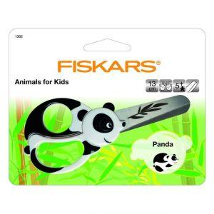 Fiskars 1382 - Ciseaux pour enfants Panda, 13 cm, pour droitiers et gauchers