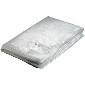 Bâche transparente 160 g/m² 4 x 10 m - P. OUTILLAGE
