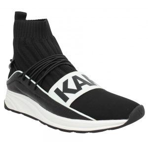 Karl Lagerfeld Baskets Vektor Hi cuir toile Homme Noir Noir - Taille 40,41,42,43