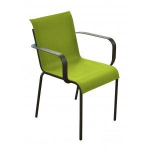 Proloisirs 2 fauteuils de jardin New Orleans en acier et textilène