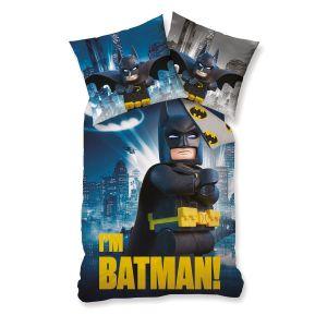 Parure housse de couette Batman Lego (140 x 200 cm)