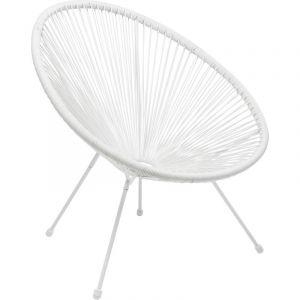 Kare Design Fauteuil Design Blanc ACAPULCO