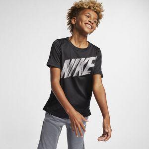 Nike Haut de trainingà manches courtes Dri-FIT pour Garçon plus âgé - Noir - Taille M - Homme