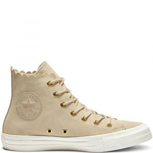 Converse Chuck Taylor All Star Frilly Thrills High Top Natural Ivory/Gold/Egret 36.5