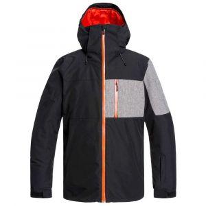 Quiksilver Mission Plus-Veste de Ski/Snowboard pour Homme, Black, FR (Taille Fabricant : XS)
