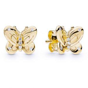 Pandora Boucles d'oreilles Animaux 267921CZ - Boucles d'oreilles Papillon en Argent Doré
