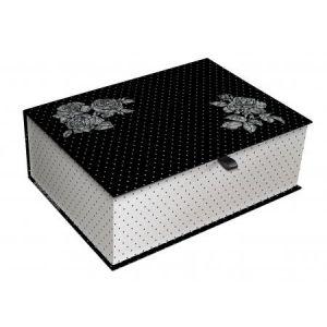 Clairefontaine Set de 3 boîtes gigognes Chantal Thomass, de 26x19x11 à 45x35x15 cm