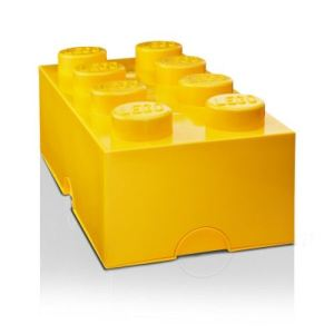Boîte à goûter brique Lego 8 plots en plastique