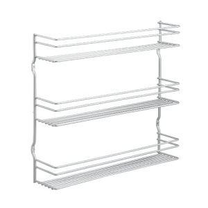 Metaltex 364633095 - Etagère à épices 3 niveaux en inox (31,5 x 37 cm)