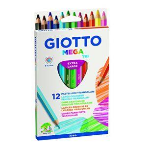 Giotto Etui de 12 crayons de couleur Mega Tri mine Ø 5.5mm longeur 18cm