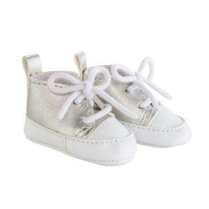 Corolle Chaussures pour poupée 36 cm ma : Baskets argentés