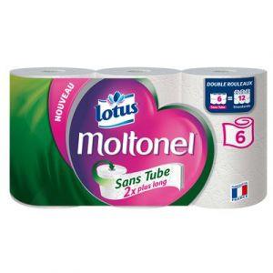 Moltonel Papier toilette blanc sans tube