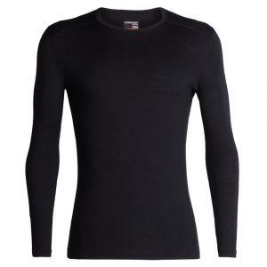 Icebreaker 200 Oasis L/S Crewe - Sous-vêtement mérinos taille M, noir