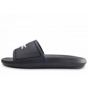 Lacoste Claquettes Croco Slidehe Femme Noir - Taille 37