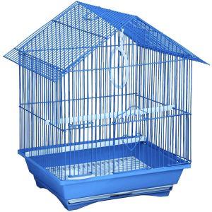 Cage à oiseau avec perchoir et balançoire