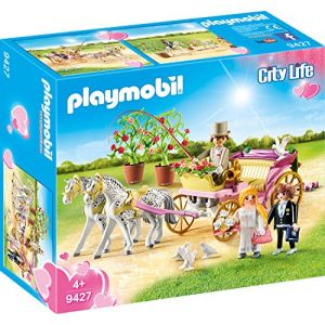 Playmobil 9427 - City Life : Carrosse et couple de mariés