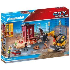 Playmobil Mini-pelleteuse et chantier City Action 70443