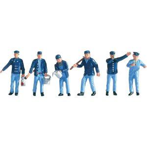 Noch 15282 - Figurines conducteur de locomotive et agents de manuvre voie - Echelle 1:87 (H0)