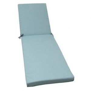 Naterial Coussin pour bain de soleil polyester 186x56cm LOLA Bleu
