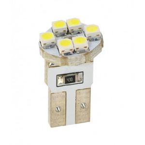 Habill-auto ampoule LED blanc T10 W5W 6xSMD3528 12V 0.48W