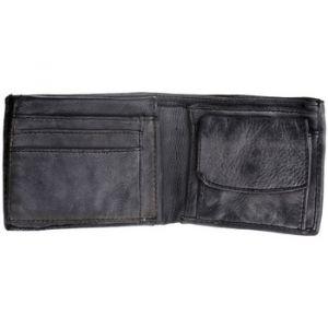 1aa77cdc2f Dudu Portefeuille pour Homme en Cuir Vieilli avec Porte-Monnaie de Black  Slate