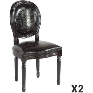 chaise medaillon noir comparer 67 offres. Black Bedroom Furniture Sets. Home Design Ideas