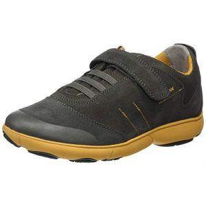 Geox J Nebula A, Sneakers Basses garçon, Vert (Military/Yellow C0099), 28 EU