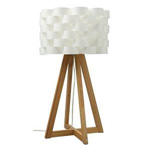 """Lampe à Poser Bambou """"Moki"""" 55cm Blanc Prix"""